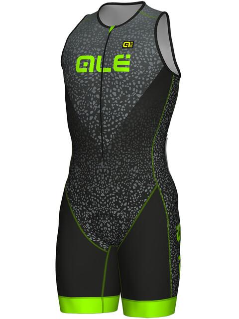 Alé Cycling Long Triathlon Kilawea Skinsuit Men black-grey-fluo green